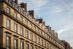 Exterior of a historical townhouse in Paris Stock Image