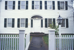 Exterior of home in historic Deerfield in Autumn, MA Royalty Free Stock Photos