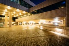 The exterior of the Hong Kong Cultural Centre at night, in Kowlo Royalty Free Stock Photos
