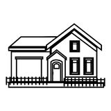 Exterior house isolated icon Stock Photos