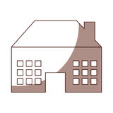 Exterior house isolated icon Stock Images