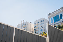 Exterior of Houses in City Stock Photos