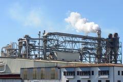 Exterior industrial da fábrica Foto de Stock Royalty Free
