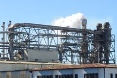 Exterior industrial da fábrica Fotografia de Stock Royalty Free