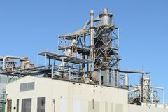 Exterior industrial da fábrica Fotografia de Stock