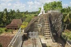 Exterior of the Isurumuniya rock temple in Anuradhapura, Sri Lanka. Stock Photos