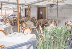 Exterior italiano do restaurante Foto de Stock Royalty Free