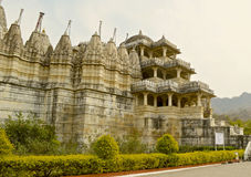 Exterior of Jain temple at Ranakpur Stock Photo