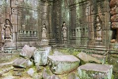 Exterior of the Krol Ko temple in Angkor, Cambodia. Royalty Free Stock Photos