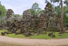 Exterior of the Krol Ko temple in Angkor, Cambodia. Stock Photos