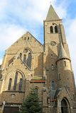 La Roche-en-Ardenne church, Belgium stock photography