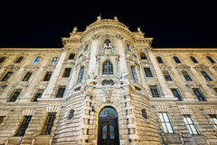The exterior of Landgericht München at night, in Munich Germany Stock Photos