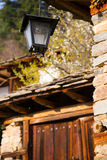 Exterior lantern light fitting on a rural house Stock Image