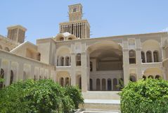 Exterior of the Lari house in Yazd, Iran. Royalty Free Stock Photo