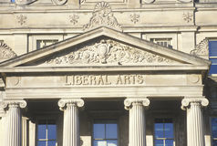 The exterior of the Liberal Arts wing of the University of IA, IA Royalty Free Stock Photo