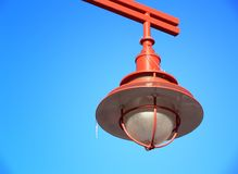 Exterior Light Fixture. Painted orange royalty free stock images