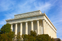 Exterior of Lincoln Memorial in Washington DC, USA. Stock Photos