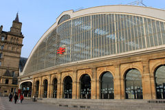 Exterior of Liverpool Lime Street railway station Stock Photography