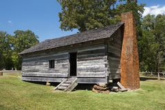 Exterior of Log Cabin Stock Photography