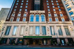 The exterior of the Lord Baltimore Hotel in downtown Baltimore, Maryland.  stock images