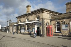 Exterior of Loughborough Station, Loughborough, Leicestershire,. UK - 1st February 2018 Royalty Free Stock Photos