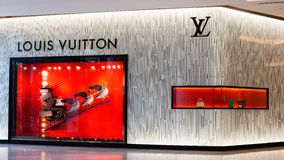 Exterior of a Louis Vuitton in Bangkok, Thailand. Stock Image