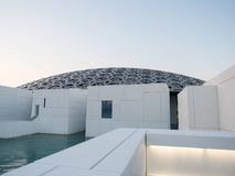 Exterior of Louvre Museum in Abu Dhabi stock image