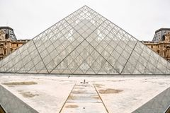 Exterior of louvre museum. Photo image a Beautiful panoramic view of Paris Metropolitan City Stock Images