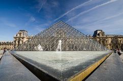 Exterior of the Louvre Pyramid Stock Photo