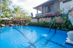 Exterior of Luxury Bali villa Royalty Free Stock Photos