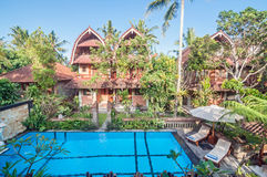 Exterior of Luxury Bali villa Royalty Free Stock Image