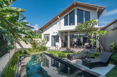 Exterior of Luxury Bali villa Royalty Free Stock Photo