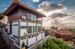 Exterior of Luxury Bali villa Royalty Free Stock Photo