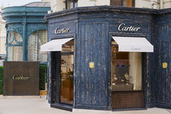 Exterior of the luxury Cartier store next to the famous Monte Carlo Casino, Monaco. Stock Photography