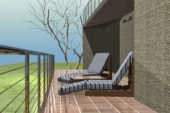 Exterior Of Luxury Home vector illustration