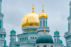 Exterior of main mosque in Moscow at nasty day time. Stock Photo