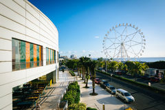 The exterior of the Mall of Asia and ferris wheel, in Pasay, Met Stock Image