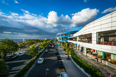 The exterior of the Mall of Asia and Seaside Boulevard, in Pasay Royalty Free Stock Photography