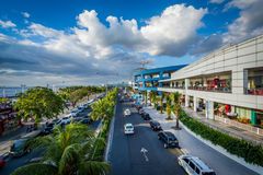 The exterior of the Mall of Asia and Seaside Boulevard, in Pasay Royalty Free Stock Photo
