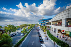 The exterior of the Mall of Asia and Seaside Boulevard, in Pasay Stock Image