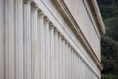 Exterior of marble Stoa of Attalos colonnade Royalty Free Stock Photos