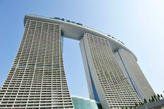 Exterior of Marina Bay Sands Singapore Stock Images