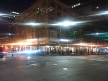 Exterior of McDonald& x27;s at Night royalty free stock photography