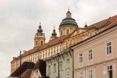 Exterior of Melk Abbey in Austria Stock Photo