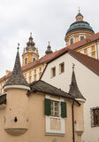 Exterior of Melk Abbey in Austria Stock Photo