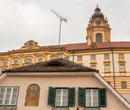 Exterior of Melk Abbey in Austria Royalty Free Stock Photography