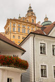 Exterior of Melk Abbey in Austria Stock Image
