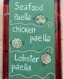 Exterior menu cartel in Barcelona - Spain Royalty Free Stock Image
