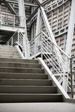 Exterior metal structure building exit stairs background copy space Royalty Free Stock Images