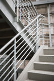 Exterior metal structure building exit stairs background copy space Stock Photography